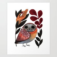 Ground Owl Art Print