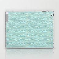 Blue Scribbles 05 Laptop & iPad Skin