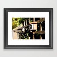 Jailed nature Framed Art Print