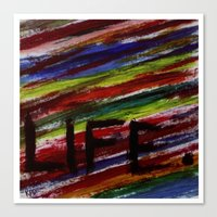 Life by KPD (Stretched) Canvas Print