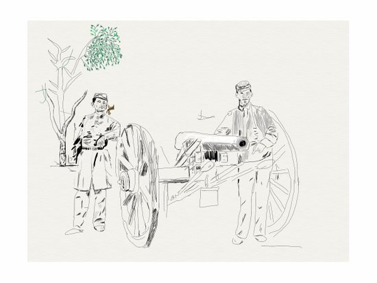 During the Civil War  Art Print