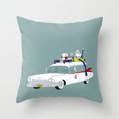 Ecto-1 Throw Pillow