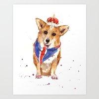 JUBILEE Corgi Print - 8x… Art Print