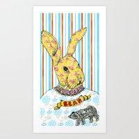 Rabbit and Bear Art Print