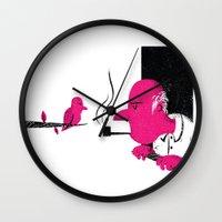 Bird And Man Wall Clock