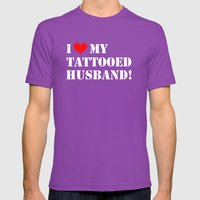 Tattooed Husband Mens Fitted Tee Ultraviolet SMALL