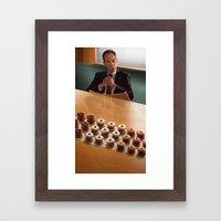 Albert and donuts Framed Art Print