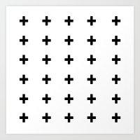 +++ (black) Art Print
