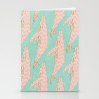 The Chevron Whales Stationery Cards