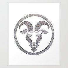 Zodiac Sign Capricorn Art Print