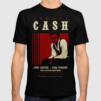 Cash Live at Folsom Prison Mens Fitted Tee Black SMALL