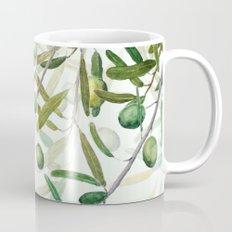 Green Olive watercolor painting Mug