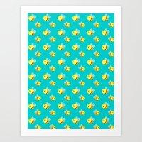 Bees - Pattern Art Print