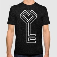 Key To The Kingdom Mens Fitted Tee Tri-Black SMALL
