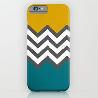 Color Blocked Chevron iPhone 6 Slim Case
