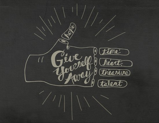 Give Yourself Away - Hand drawn Art Print