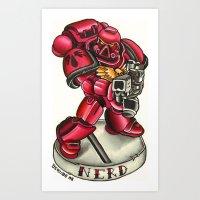 nerd! Art Print