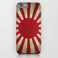 iPhone Cases featuring The imperial Japanese Army Ensign Flag by Bruce Stanfield