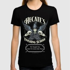 Hecate's Finishing Schoo… Womens Fitted Tee Black SMALL