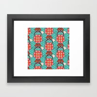 Creative pattern Framed Art Print