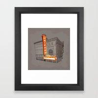 The Chicago Theater Framed Art Print