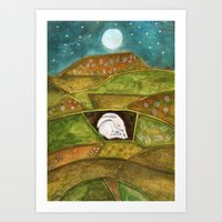 Hare At Pendle Hill Art Print