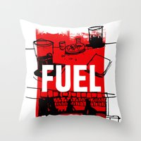 FUEL Throw Pillow