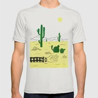 Man & Nature - The Desert Mens Fitted Tee Silver SMALL