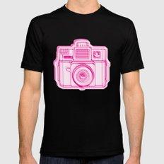 I Still Shoot Film Holga Logo - Reversed Pink Mens Fitted Tee Black SMALL