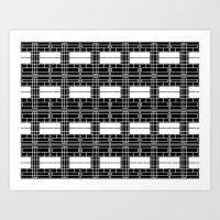 Black And White Brick Art Print
