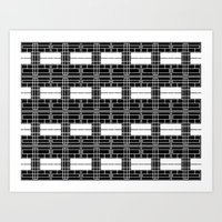 Black and White Brick Art Print