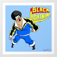 Black Lightning (Sinbad Version)  Art Print