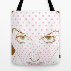 Pop art face Tote Bag
