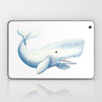 Nautical Whale Watercolor Laptop & iPad Skin