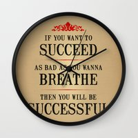 How bad do you want to be successful - Motivational poster Wall Clock