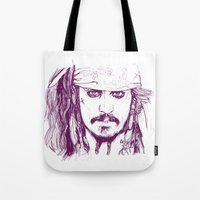 Captain Jack - Pirates of the Caribbean Tote Bag