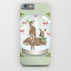 Snow globe deer iPhone 6s Slim Case
