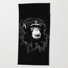 Monkey Business - Black Beach Towel