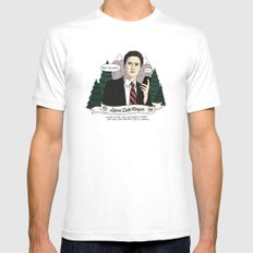 Twin Peaks (David Lynch) Agent Dale Cooper SMALL Mens Fitted Tee White