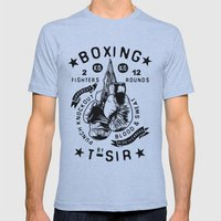 Boxing Mens Fitted Tee Athletic Blue SMALL