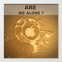 Are We Alone ? Canvas Print