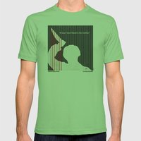 No185 My Psycho minimal movie poster Mens Fitted Tee Grass SMALL