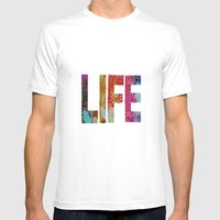 Life -again!!!!!!! Mens Fitted Tee White SMALL