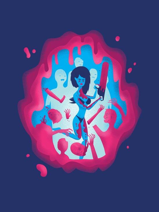 Zombie Bikini Chainsaw Heroine Canvas Print