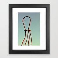 Windy Chair Framed Art Print