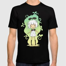 Bean Girl Mens Fitted Tee Black SMALL