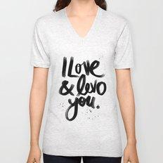 I Love & Levo you Unisex V-Neck