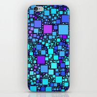 Post It Blue iPhone & iPod Skin