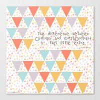 The Difference Between..… Canvas Print