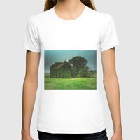 house with ghosts  Womens Fitted Tee White SMALL